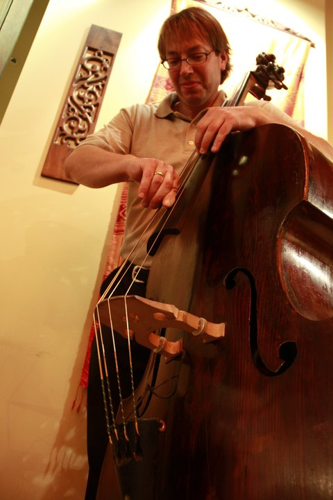 Clark Johnston on bass