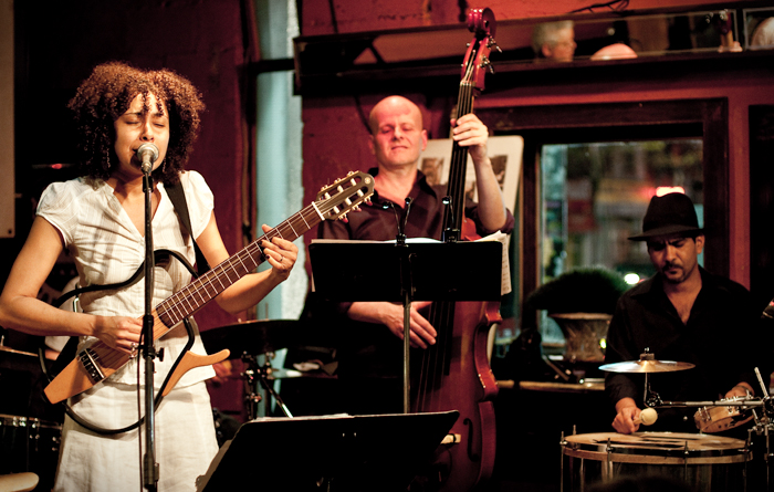 George Koller and Maninho Costa @ The Rex (pic by Kevin Jones)